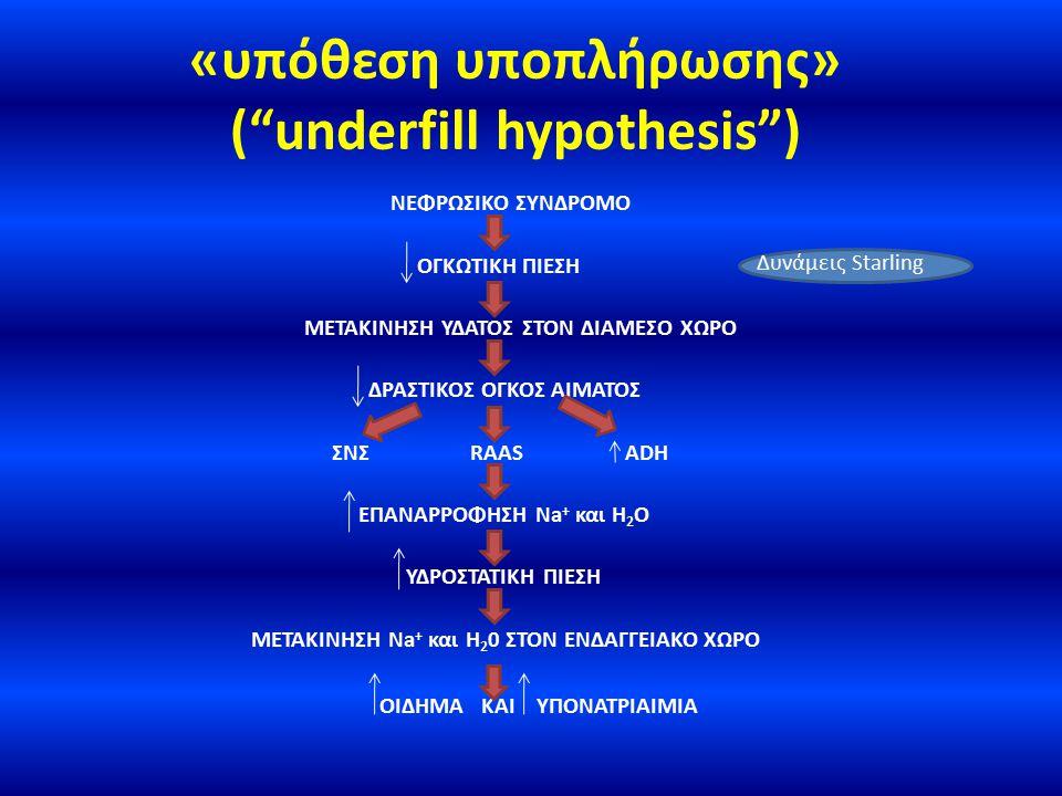 «υπόθεση υποπλήρωσης» ( underfill hypothesis )
