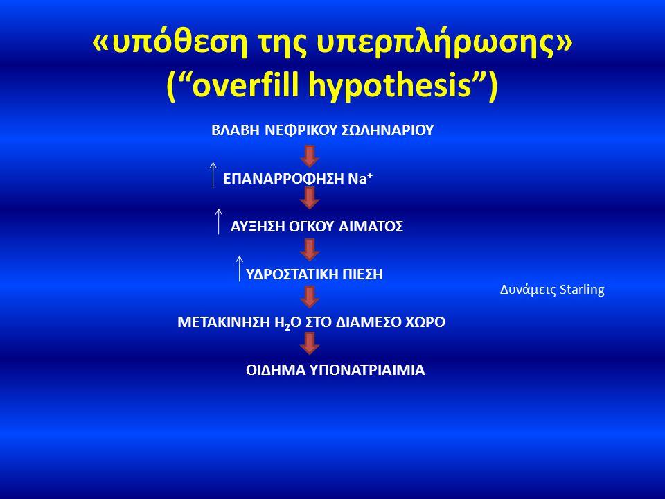 «υπόθεση της υπερπλήρωσης» ( overfill hypothesis )