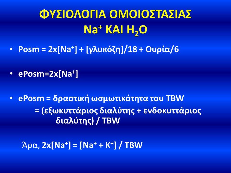 ΦΥΣΙΟΛΟΓΙΑ ΟΜΟΙΟΣΤΑΣΙΑΣ Na+ ΚΑΙ H2O
