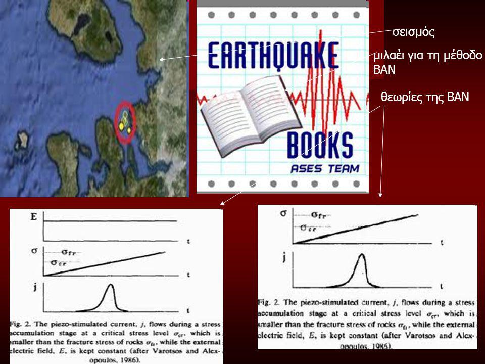 σεισμός μιλαέι για τη μέθοδο ΒΑΝ θεωρίες της ΒΑΝ