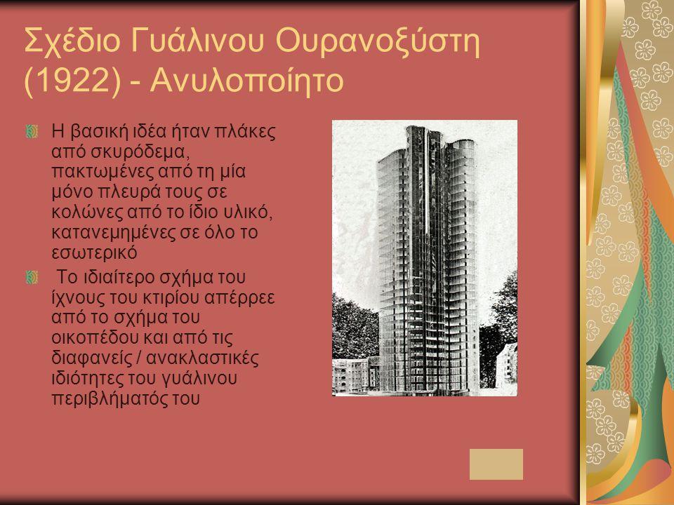 Σχέδιο Γυάλινου Ουρανοξύστη (1922) - Ανυλοποίητο