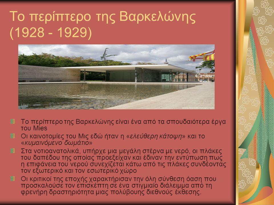 Το περίπτερο της Βαρκελώνης (1928 - 1929)