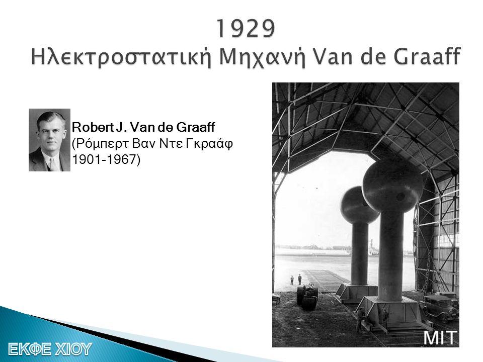 1929 Ηλεκτροστατική Μηχανή Van de Graaff