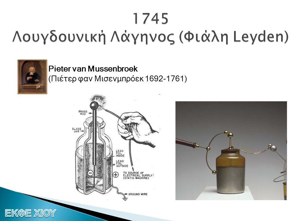 1745 Λουγδουνική Λάγηνος (Φιάλη Leyden)