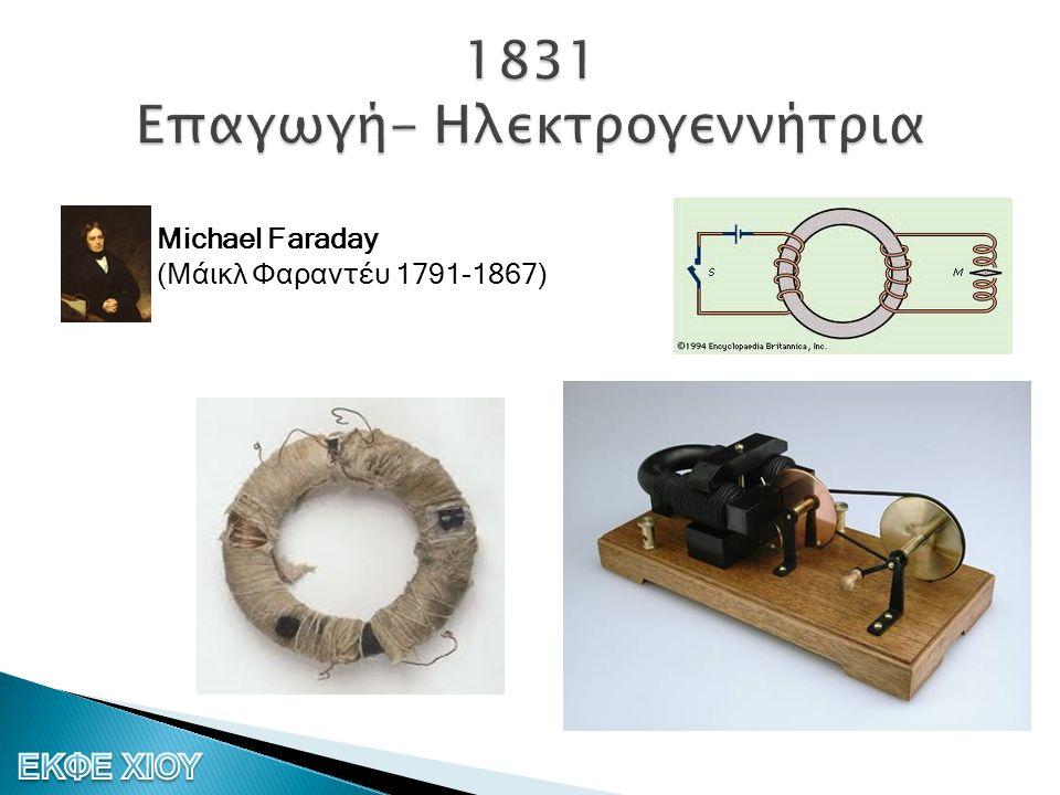 1831 Επαγωγή- Ηλεκτρογεννήτρια