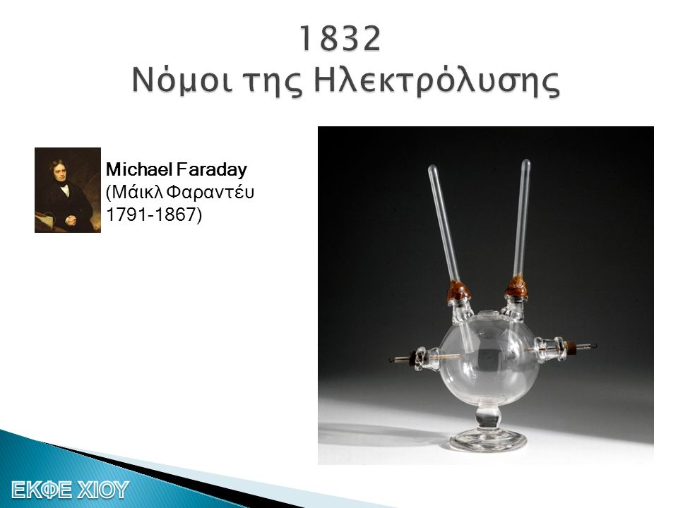 1832 Νόμοι της Ηλεκτρόλυσης