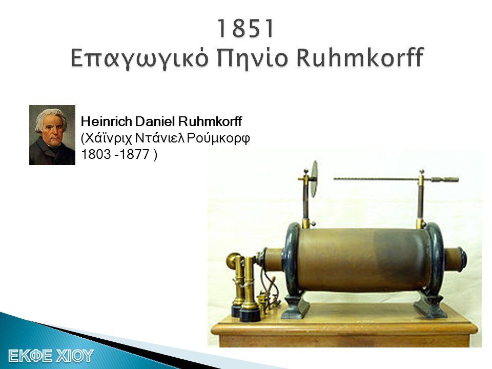 1851 Επαγωγικό Πηνίο Ruhmkorff