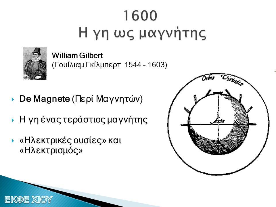 1600 Η γη ως μαγνήτης De Magnete (Περί Μαγνητών)