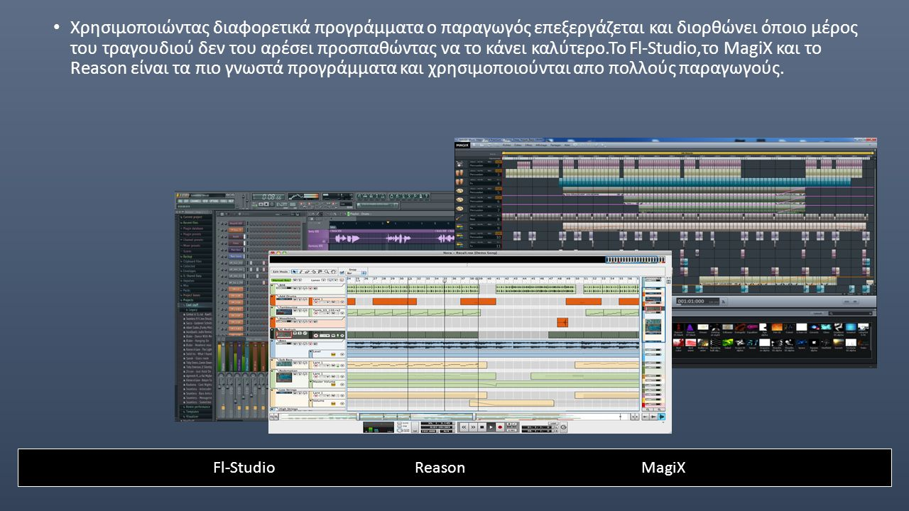Fl-Studio Reason MagiX