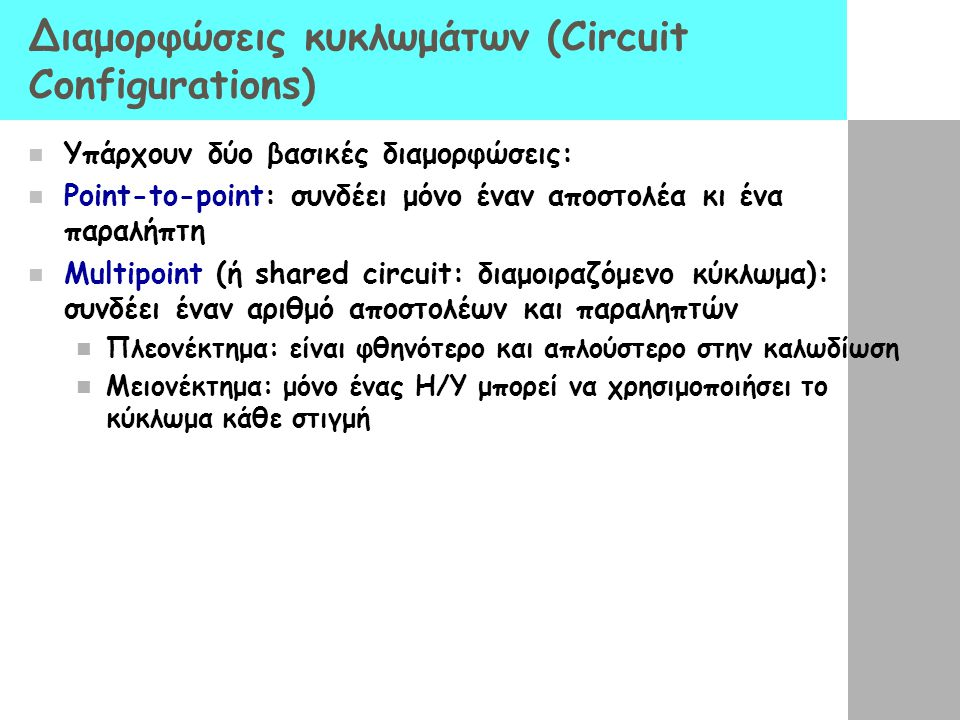 Διαμορφώσεις κυκλωμάτων (Circuit Configurations)