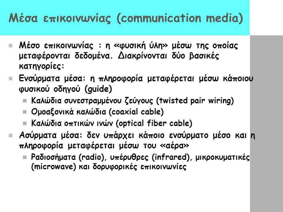 Μέσα επικοινωνίας (communication media)