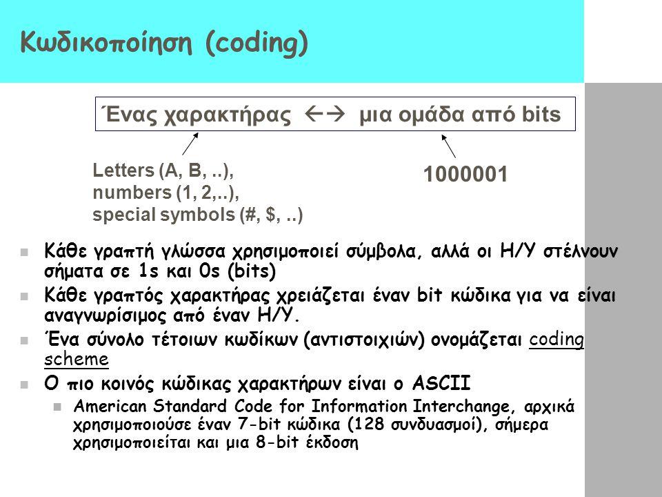 Κωδικοποίηση (coding)