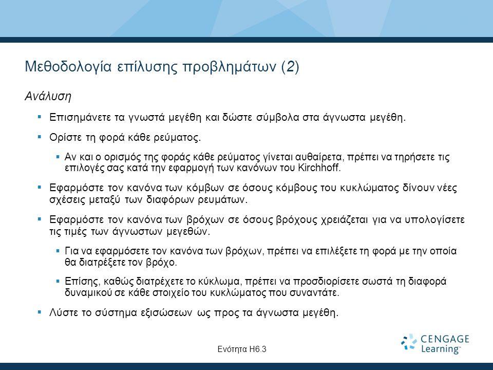 Μεθοδολογία επίλυσης προβλημάτων (2)