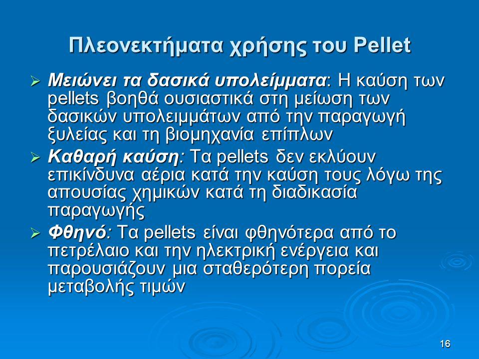 Πλεονεκτήματα χρήσης του Pellet