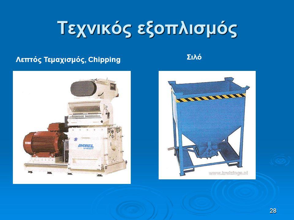 Τεχνικός εξοπλισμός Σιλό Λεπτός Τεμαχισμός, Chipping