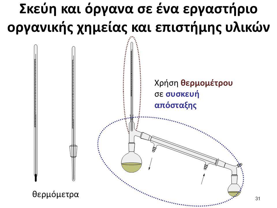 Σκεύη σε ένα εργαστήριο οργανικής χημείας και επιστήμης υλικών (1 από 2)
