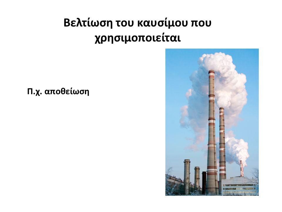 Βελτίωση του καυσίμου που χρησιμοποιείται