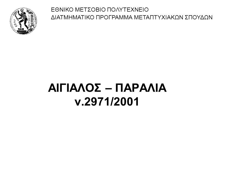 ΑΙΓΙΑΛΟΣ – ΠΑΡΑΛΙΑ ν.2971/2001 ΕΘΝΙΚΟ ΜΕΤΣΟΒΙΟ ΠΟΛΥΤΕΧΝΕΙΟ