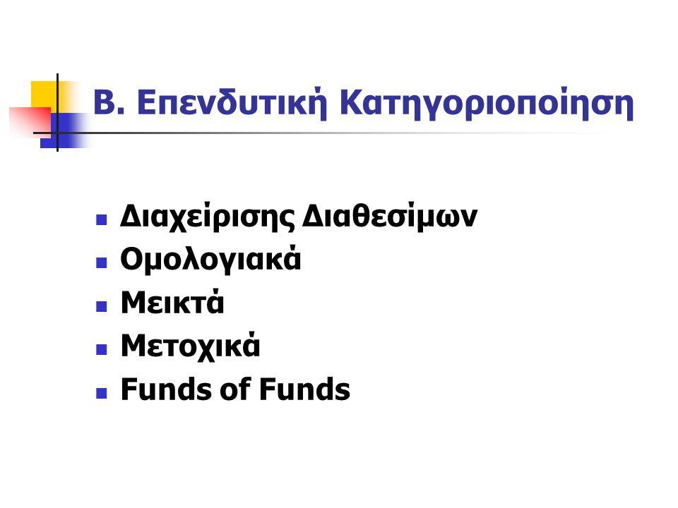 Β. Επενδυτική Κατηγοριοποίηση