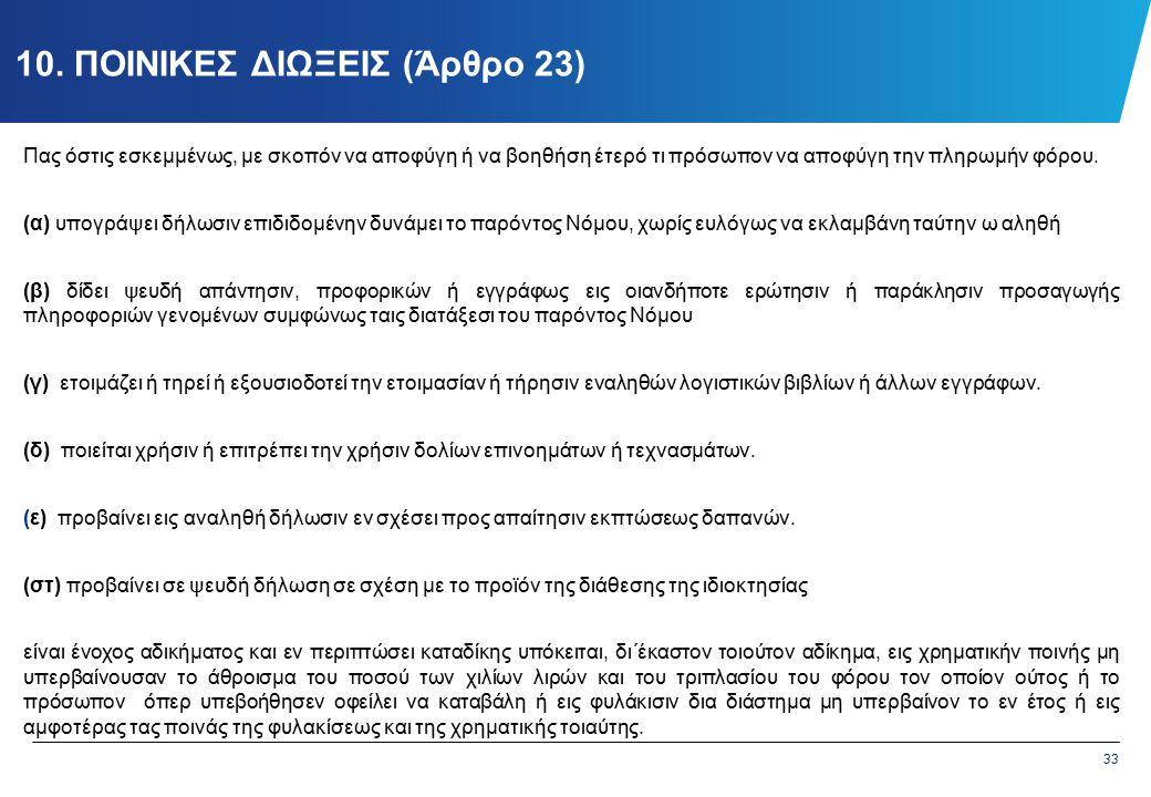 11. ΔΙΟΙΚΗΤΙΚΑ ΠΡΟΣΤΙΜΑ (Άρθρο 23Α)