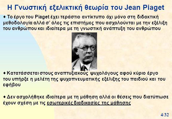 Η Γνωστική εξελικτική θεωρία του Jean Piaget