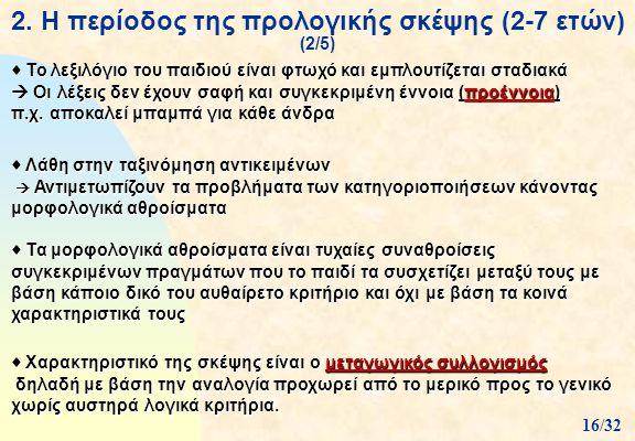 2. Η περίοδος της προλογικής σκέψης (2-7 ετών) (2/5)