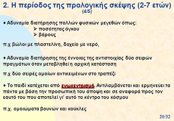2. Η περίοδος της προλογικής σκέψης (2-7 ετών) (4/5)