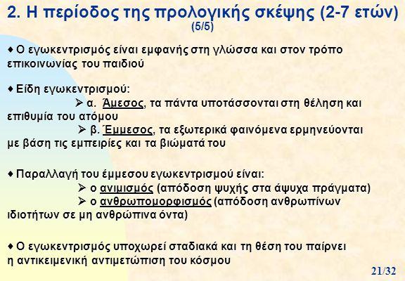 2. Η περίοδος της προλογικής σκέψης (2-7 ετών) (5/5)