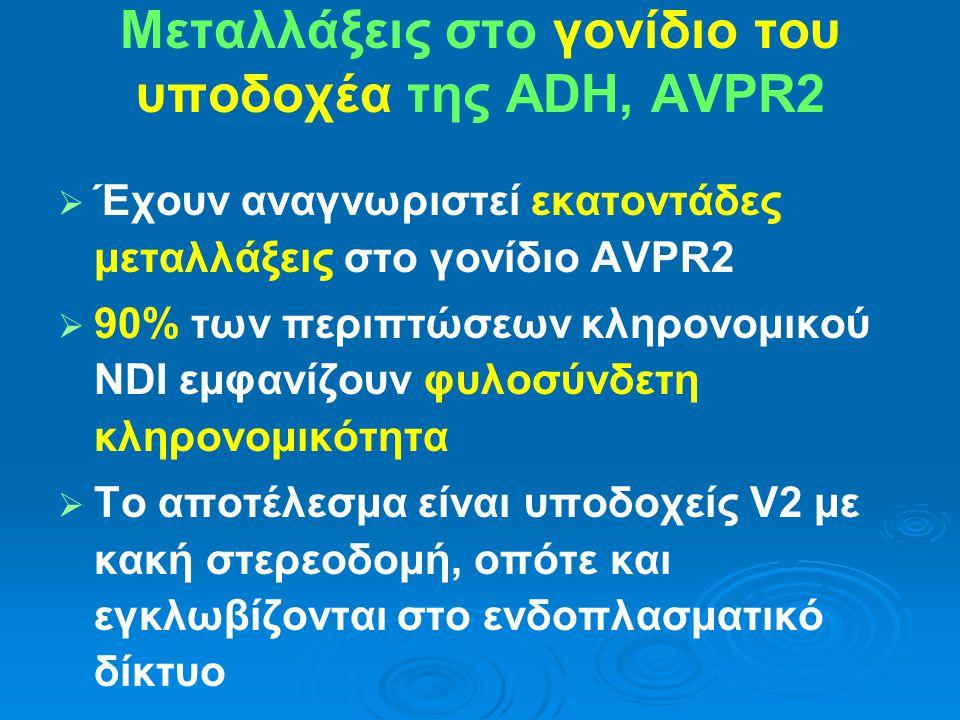Μεταλλάξεις στο γονίδιο του υποδοχέα της ADH, AVPR2