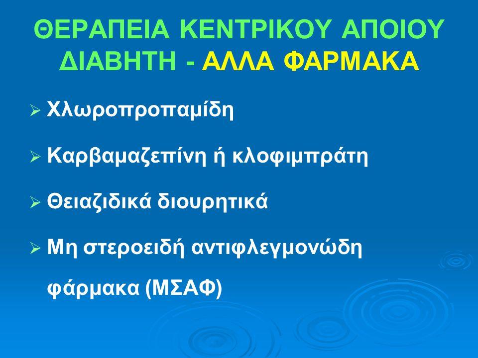 ΘΕΡΑΠΕΙΑ ΚΕΝΤΡΙΚΟΥ ΑΠΟΙΟΥ ΔΙΑΒΗΤΗ - ΑΛΛΑ ΦΑΡΜΑΚΑ