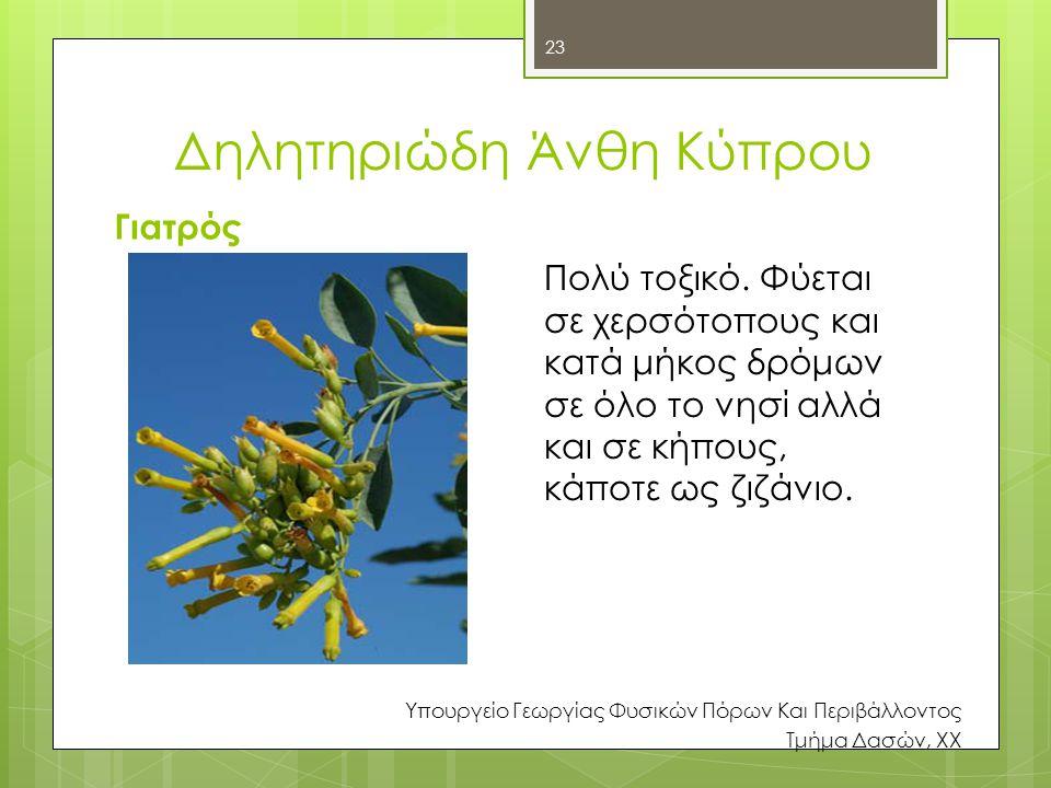 Δηλητηριώδη Άνθη Κύπρου