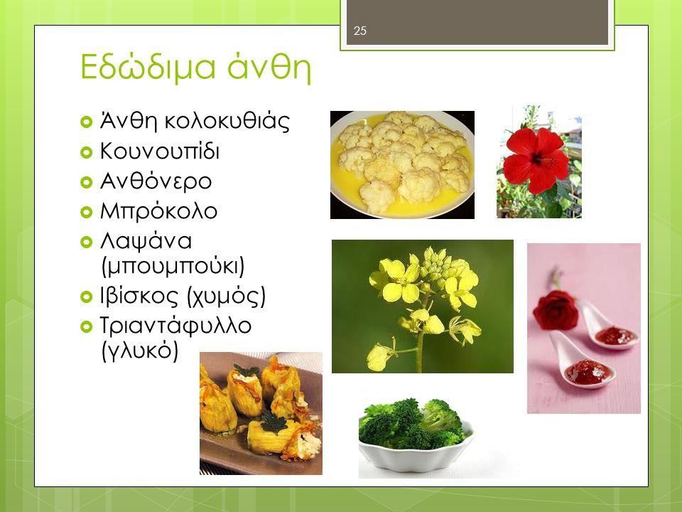 Εδώδιμα άνθη Άνθη κολοκυθιάς Κουνουπίδι Ανθόνερο Μπρόκολο