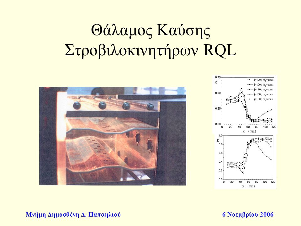Θάλαμος Καύσης Στροβιλοκινητήρων RQL