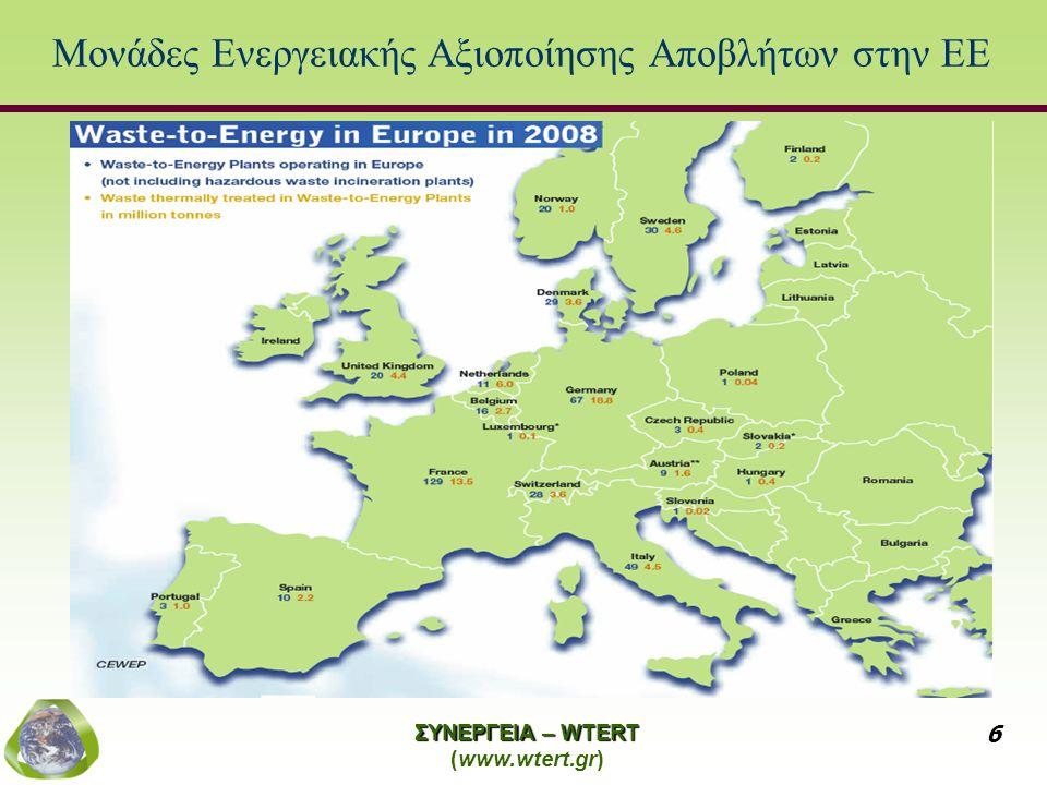 Μονάδες Ενεργειακής Αξιοποίησης Αποβλήτων στην ΕΕ