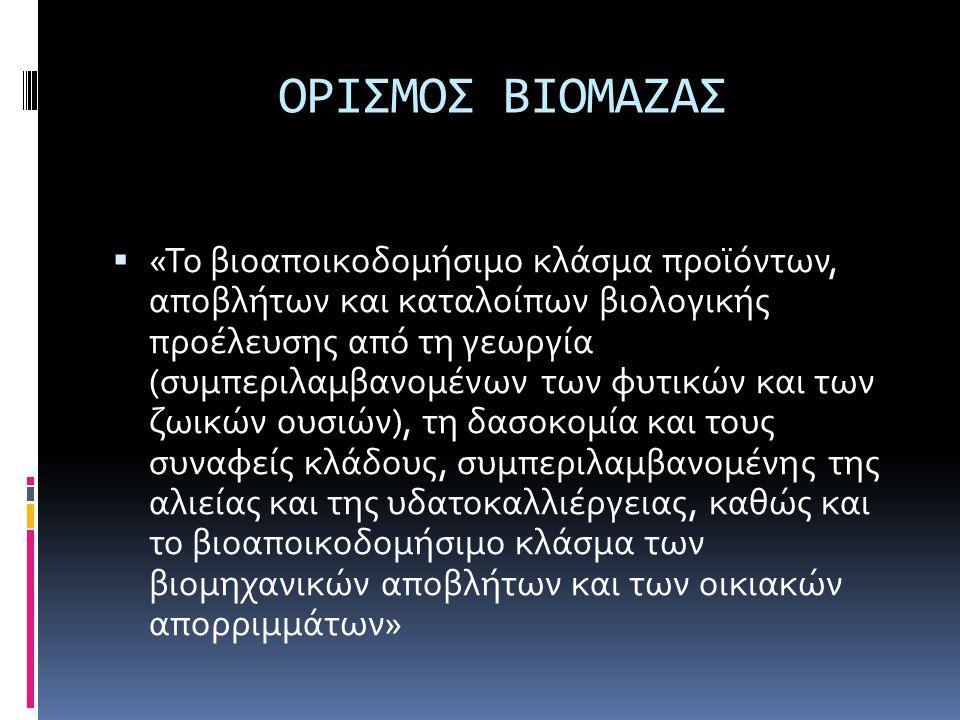 ΟΡΙΣΜΟΣ ΒΙΟΜΑΖΑΣ