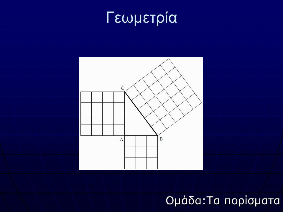 Γεωμετρία Ομάδα:Τα πορίσματα