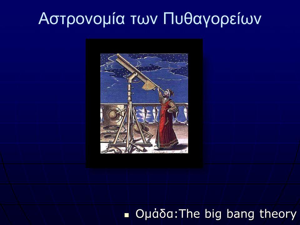 Αστρονομία των Πυθαγορείων