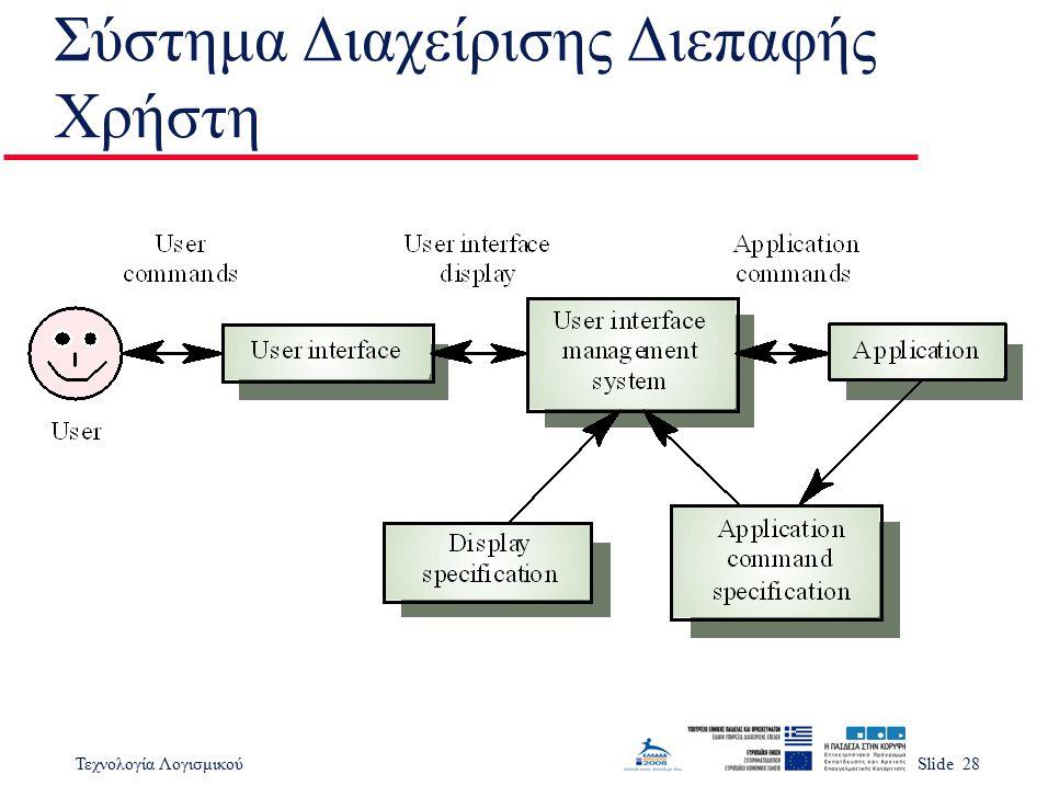 Σύστημα Διαχείρισης Διεπαφής Χρήστη