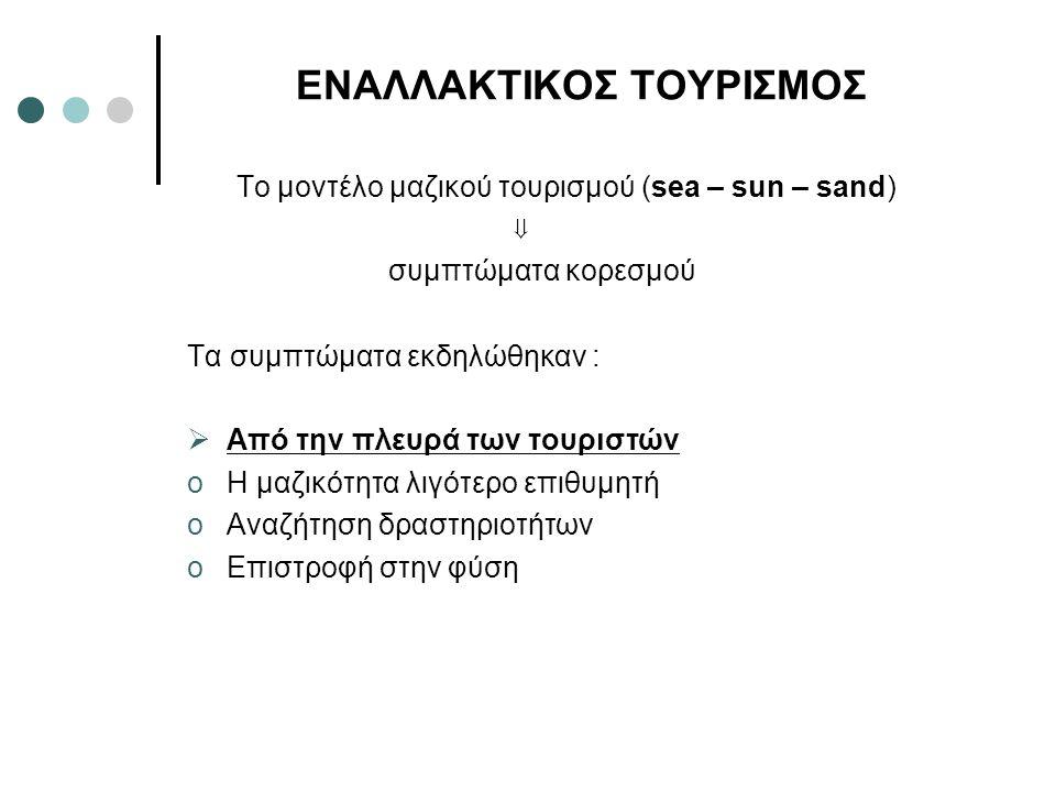 ΕΝΑΛΛΑΚΤΙΚΟΣ ΤΟΥΡΙΣΜΟΣ
