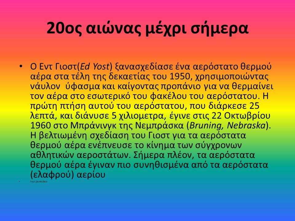 20ος αιώνας μέχρι σήμερα