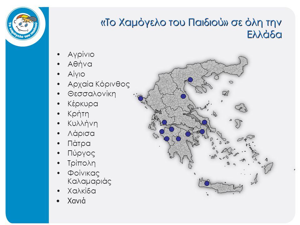 «Το Χαμόγελο του Παιδιού» σε όλη την Ελλάδα