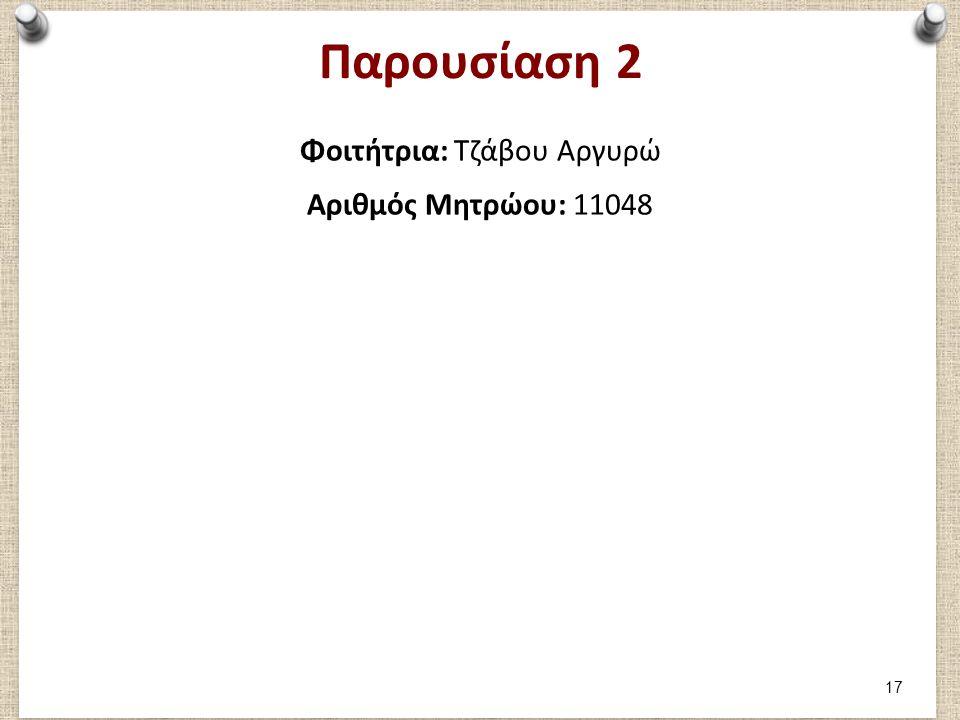 Μέρος 1: Καταγραφή 1ου παιχνιδιού Φοιτήτρια Τζάβου Αργυρώ