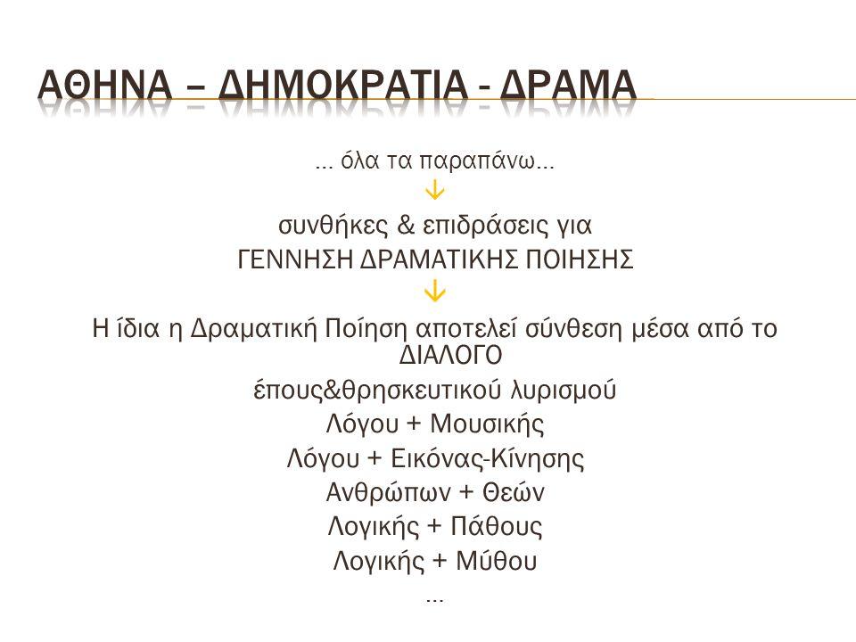 Αθηνα – δημοκρατια - δραμα