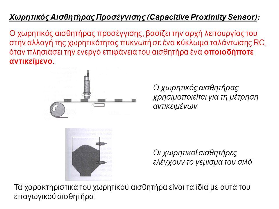 Χωρητικός Αισθητήρας Προσέγγισης (Capacitive Proximity Sensor):
