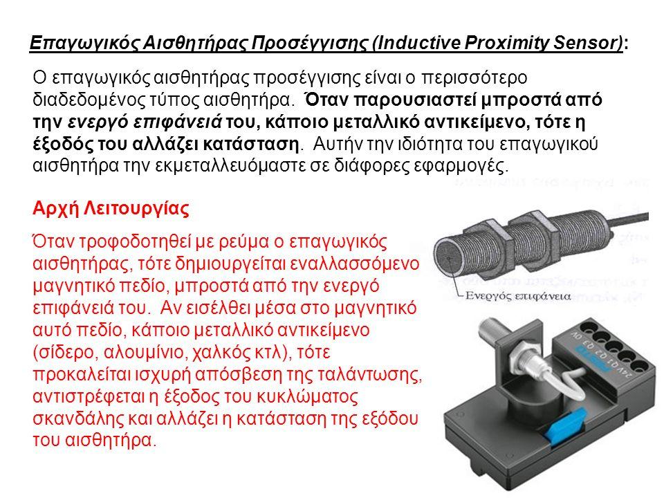 Επαγωγικός Αισθητήρας Προσέγγισης (Inductive Proximity Sensor):