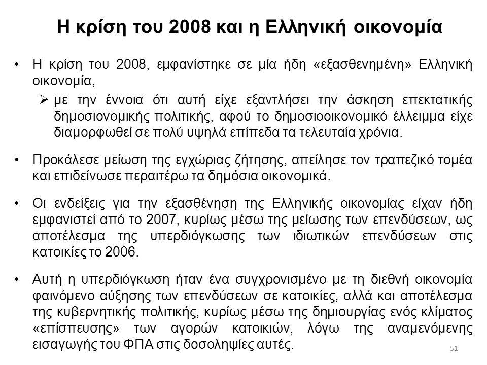 Η κρίση του 2008 και η Ελληνική οικονομία