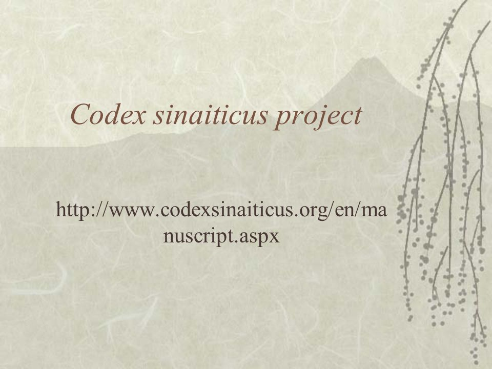Codex sinaiticus project