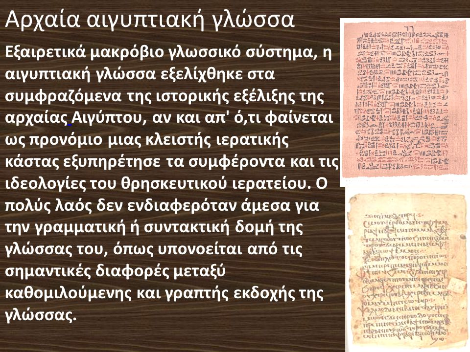 Αρχαία αιγυπτιακή γλώσσα