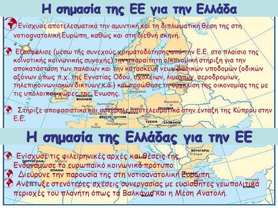 H σημασία της ΕΕ για την Ελλάδα