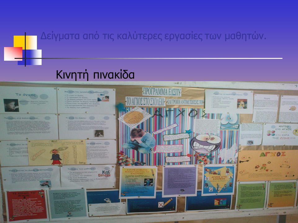 Δείγματα από τις καλύτερες εργασίες των μαθητών.